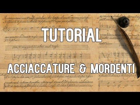 Tutorial: Acciaccature & Mordenti according to Gasparini