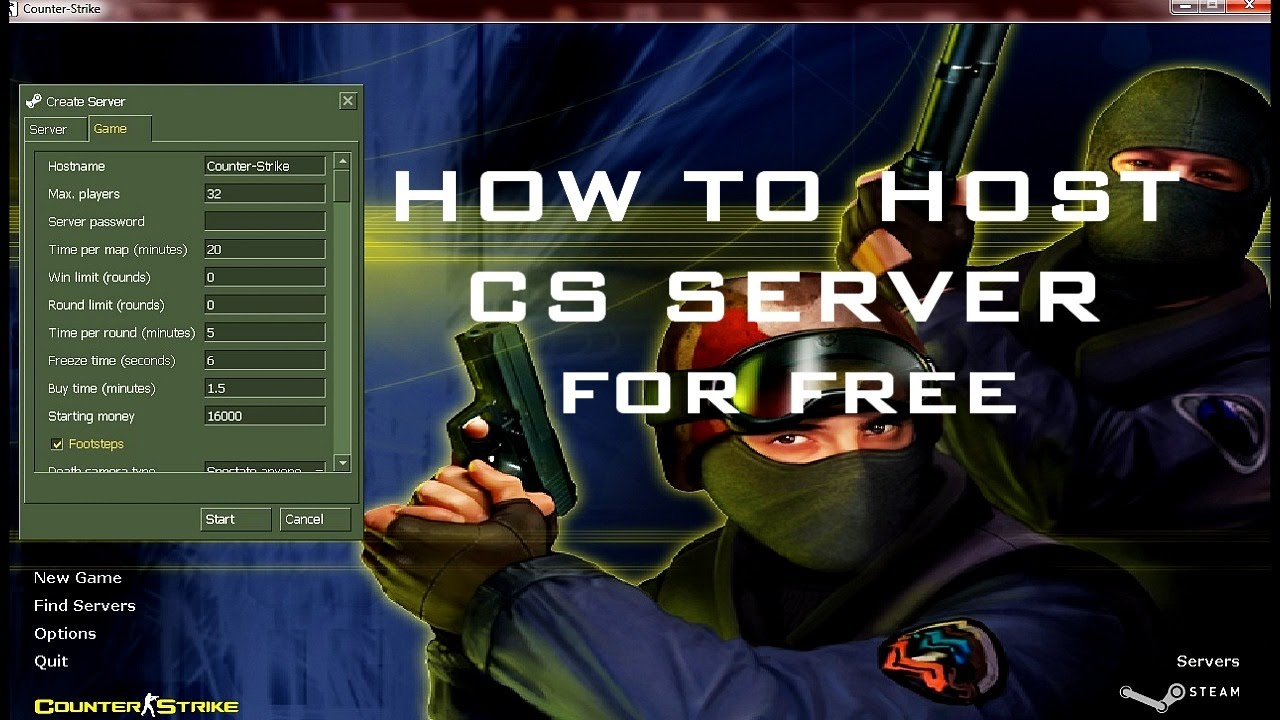 Как сервер на хостинг в cs шаблон html для хостинга