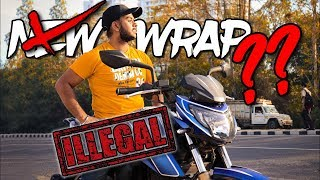 Challan for Bike Wrap ? Is Wrapping ILLEGAL in india ??