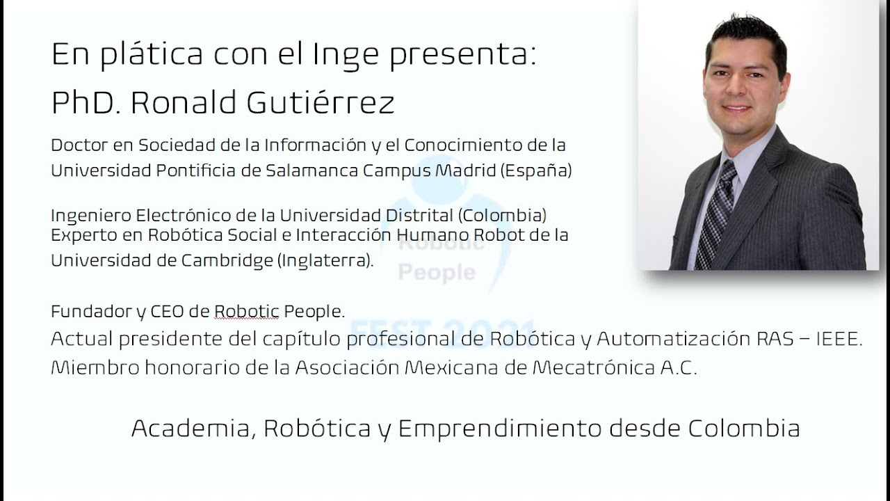 Estudiando ingeniería electrónica en Colombia, robótica academia y emprendimiento.