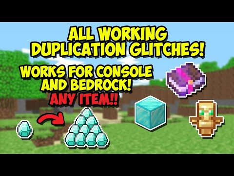 Minecraft 1.14 - ALL WORKING DUPLICATION GLITCHES 2019 TUTORIAL! PS4,XBOX,PE,PC,SWITCH
