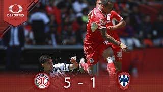 Resumen Toluca 5 - 1 Monterrey | Clausura 2019 - Jornada 13 | Televisa Deportes*