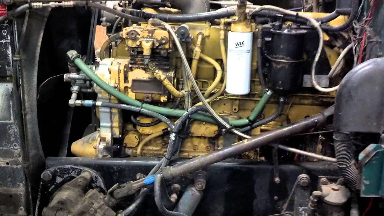 1993 peterbilt 379 13 speed for sale 3406b interior and engine walk around