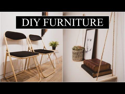 [diy-furniture]-folding-chair-makeover-+-wall-shelf-super-cute!