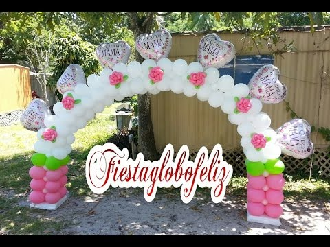 Como hacer un arco de globos estilo cuadro especial for Como hacer decoracion con globos