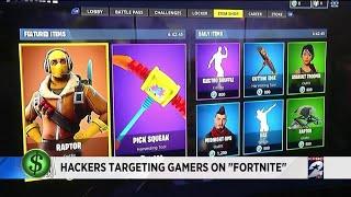 Hackers target gamers on Fortnite