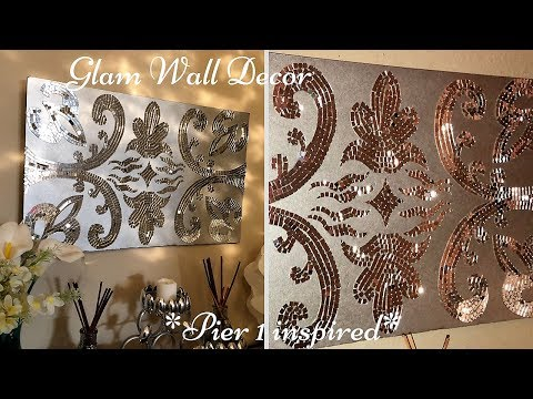 DIY Pier 1 Inspired Wall Art Mirror Decor| Quick, Simple and Inexpensive!