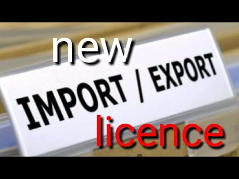 How to new Export Import licence in India all country