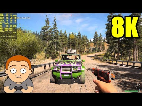 Far Cry 5 Pc 8K Resolution GTX 1080 TI SLI Frame Rate Performance Test
