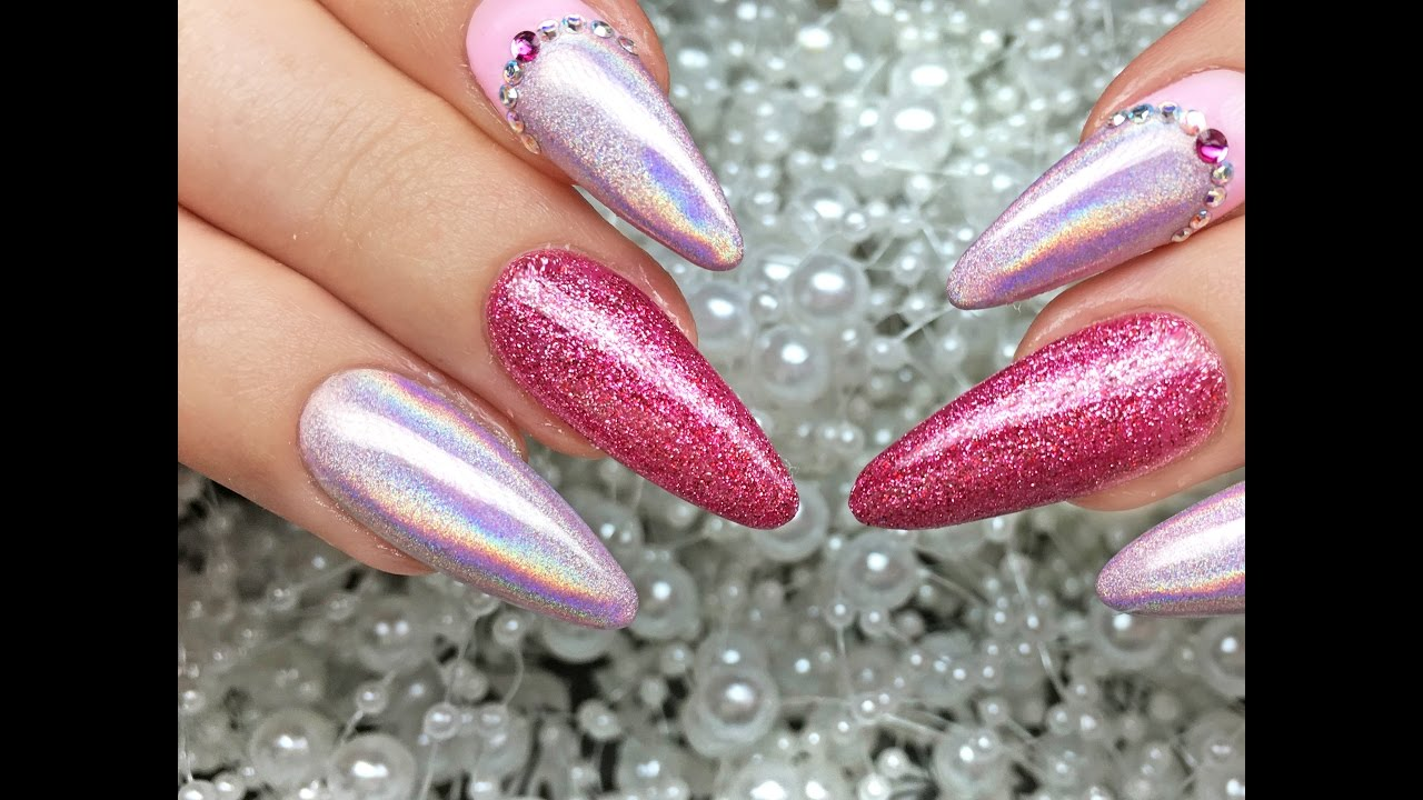 Holographic Nail Pigment Design by JET SET BEAUTY - YouTube