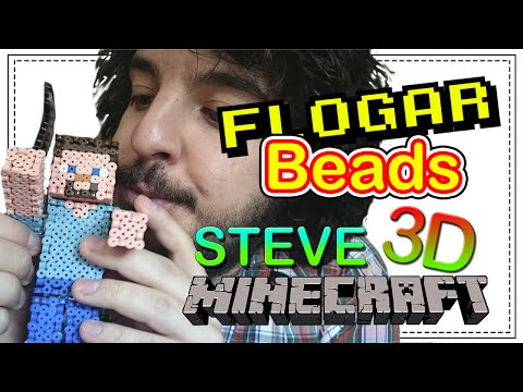 STEVE 3D MINECRAFT - DIY- Tutorial Pearl/Hama Beads para Gamers - FloGar o.O