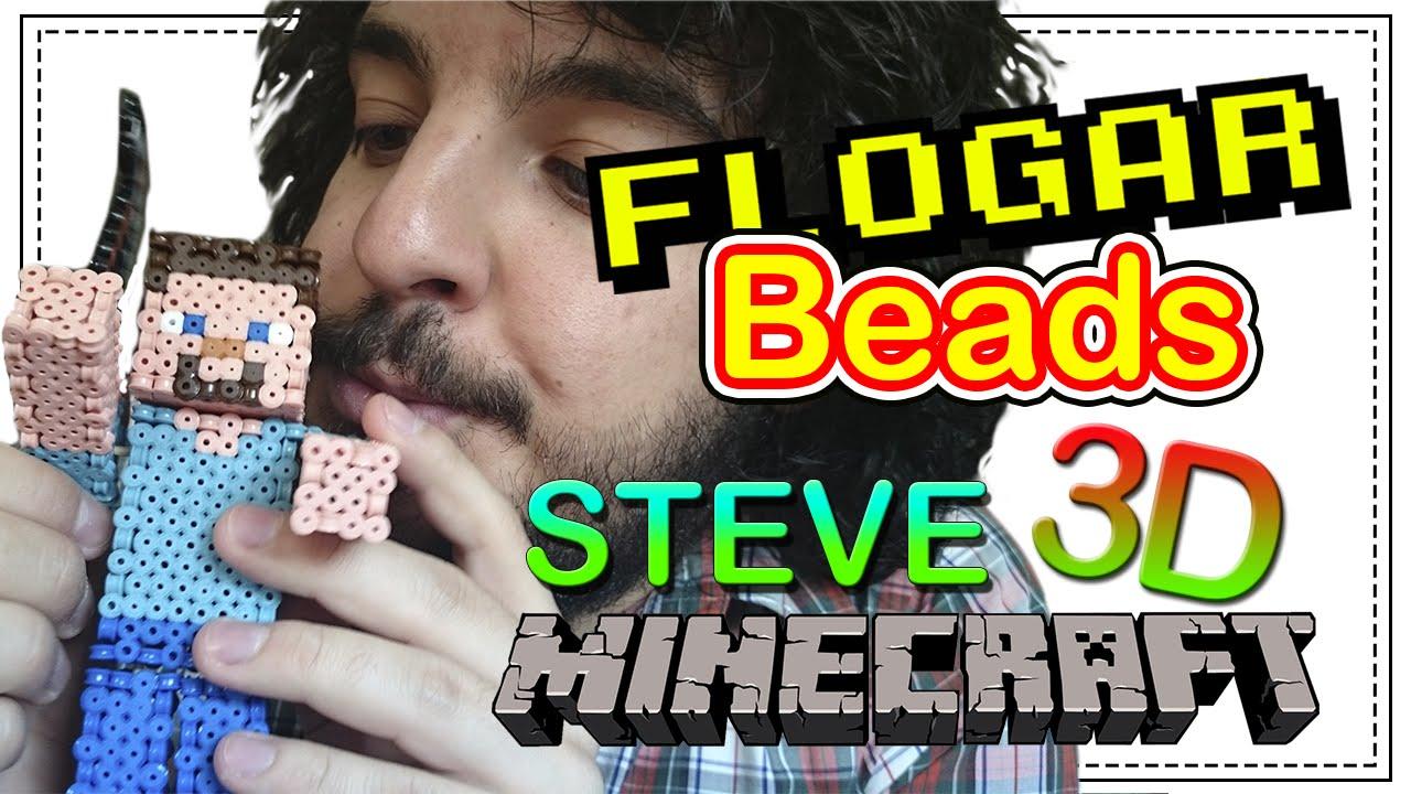 Steve 3d Minecraft Diy Tutorial Pearlhama Beads Para Gamers Flogar Oo