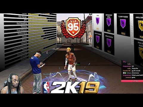 95 overall PURE POINT FORWARD REACTION ATTRIBUTES AND BADGE UPDATE  - NBA 2K19