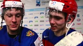 Комментарии игроков молодежной сборной России после победы над США в полуфинале МЧМ-2016