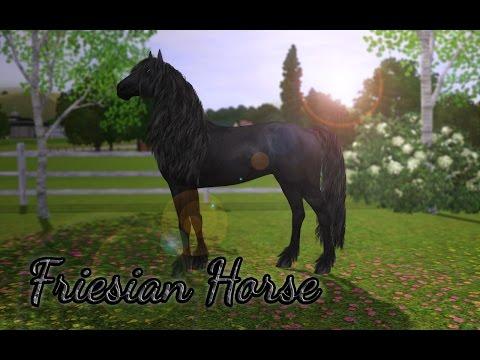 Creating a friesian horse! /The Sims 3
