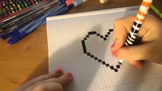Рисунки по клеточкам#2 Американский флаг-в виде сердца(Рисуем Армейский флаг-в виде сердца) Мои ВК: http://vk.com/sashamaximova99., 2015-11-22T17:16:17.000Z)