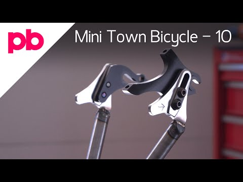 Weld Caps To Chain Stays And Dropouts - Mini Town Bicycle 10