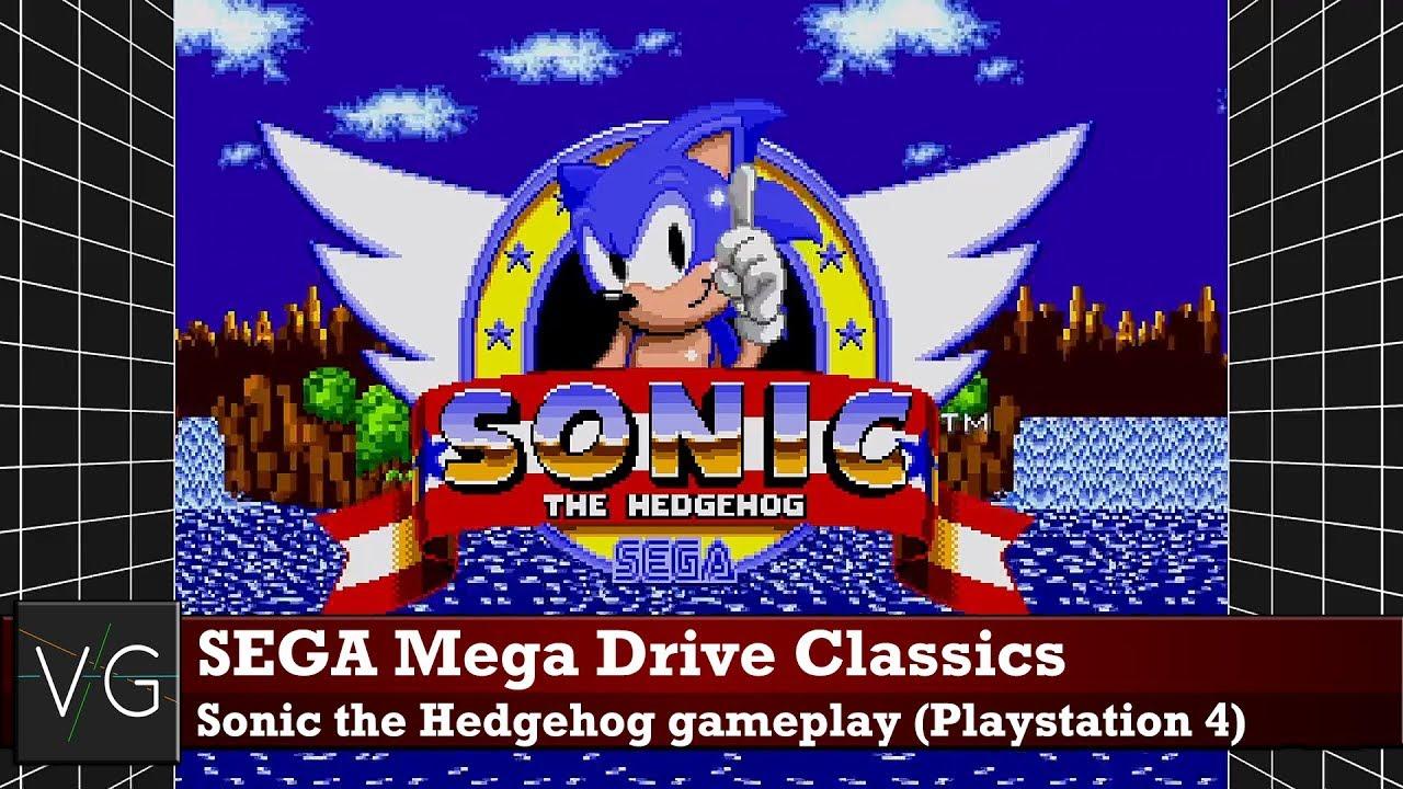 SEGA Mega Drive Classics (PS4) - Sonic the Hedghehog gameplay  No  commentary
