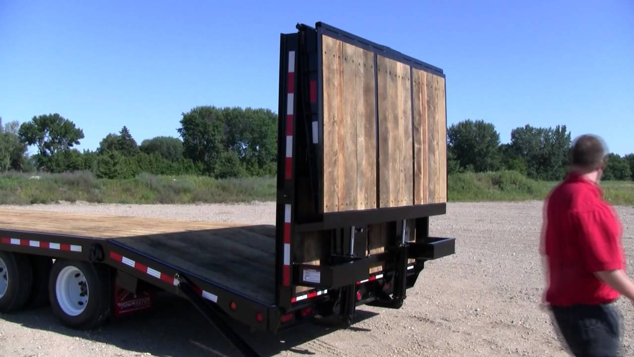 Towmaster Trailer Bi Fold Hydraulic Ramp Option Youtube