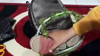 Cara membuat Parsel tas dan sandal