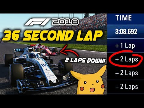 36 SECOND LAP AT AUSTRIA! LAPPING THE GRID TWICE IN A 5 LAP RACE! | F1 2018 Game Experiment |