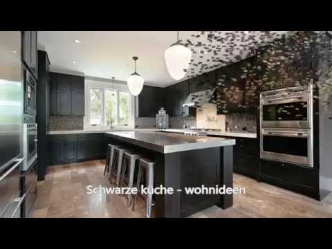 schwarze k che wohnideen youtube. Black Bedroom Furniture Sets. Home Design Ideas