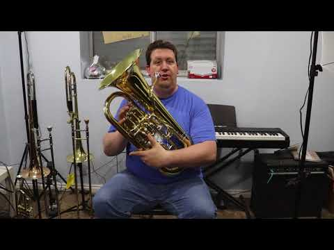 2018 Wessex 'Dolce' Compensated Euphonium – EP100, unboxing and play test.