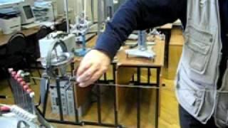 Гироскоп катится по проволоке(gyroscope rolls along the wire)