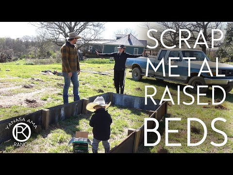 Scrap Metal Raised Beds