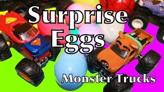 Surprise Eggs Kinder Candy Monster Truck Surprise Egg Video Monster Jam Spiderman Scooby Doo