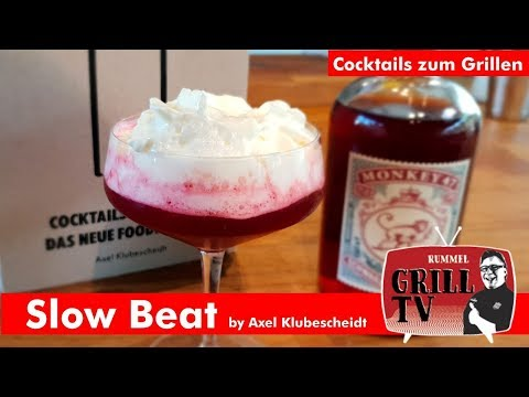 """Cocktails am Grill -Slow Beat """"Sloe Gin Cocktail""""-"""