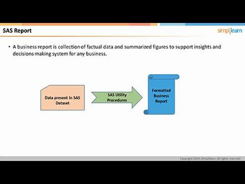 SAS Reporting Tutorial | SAS Reporting Examples | SAS Tutorials For  Beginners | Simplilearn