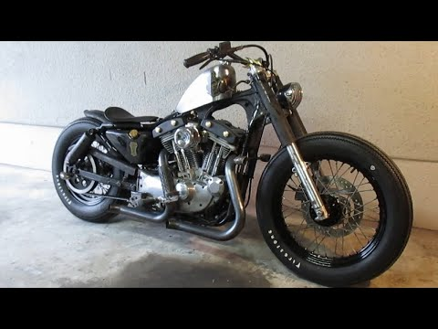 My Harley Sportster Old School Bobber Custom Completed !