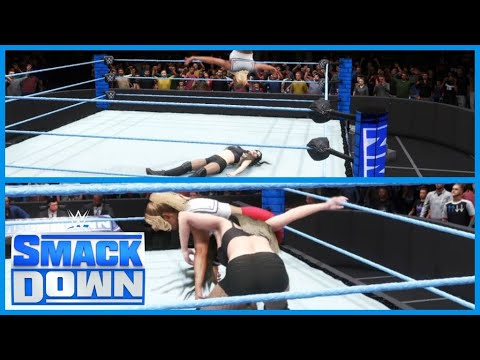 WWE 2K20|SMACKDOWN PAIGE VS LACEY EVANS MANAGERS ARE BANNED FROM RINGSIDE