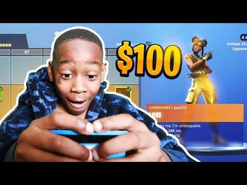 Kid Spends $100 On Season 8 *MAX* Battle Pass With Brother's Credit Card! (Fortnite)
