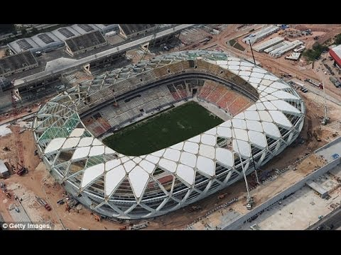 Brazil Rushes to Finish Stadiums 10 Days from World Cup