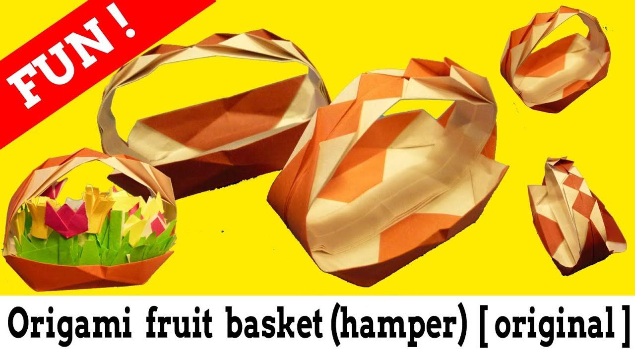 すべての折り紙 折り紙果物の折り方 : :フルーツバスケットの折り ...