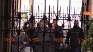 Vertice centrodestra, Matteo Salvini e Giorgia Meloni arrivano a Palazzo Grazioli