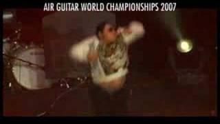 "Air Guitar World Champion 2007, Ochi ""Dainoji"" Yosuke (Japan) perfo..."