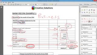 Accounting - Bank Reconciliation - How to complete a bank recon