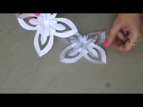 DIY Paper snow flake - must try!!!