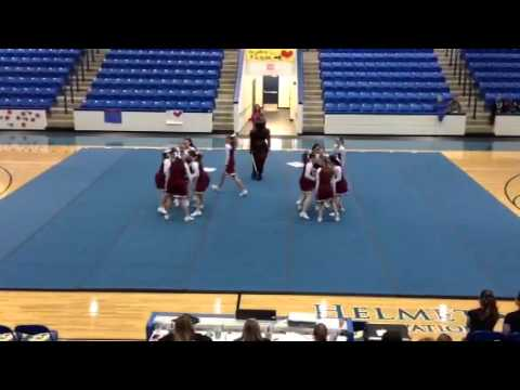 2015 Lifeway Christian cheer squad at State 2.20.15