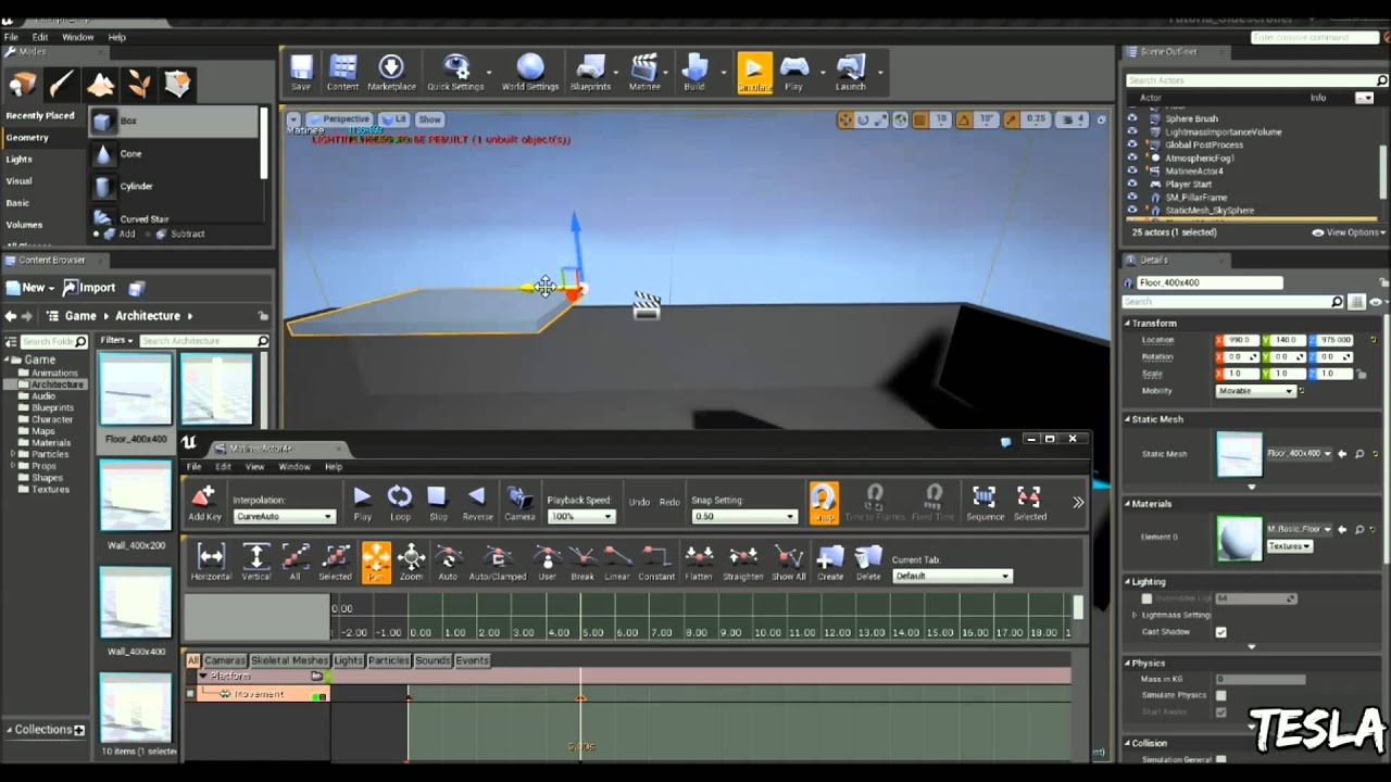 Unreal Engine 4 Tutorial - Basic Moving Platform