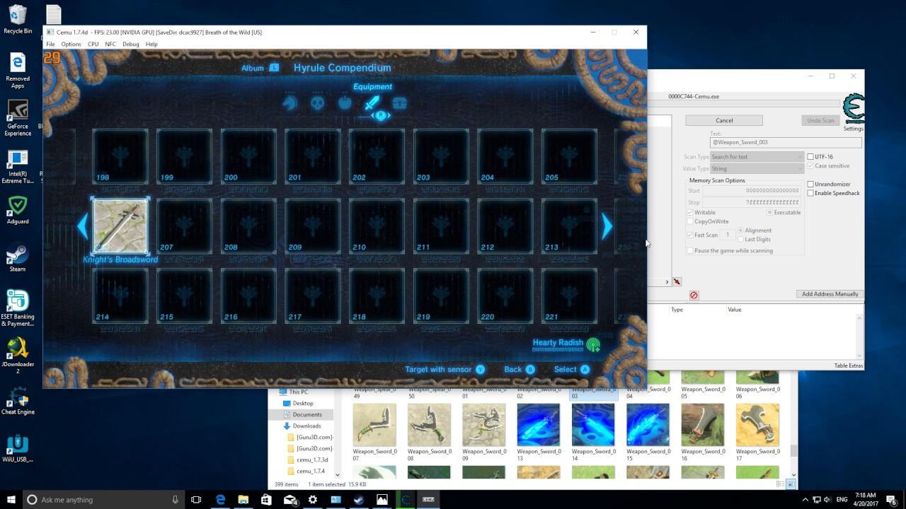 PC Zelda BOTW, how to get master sword with cheat engine