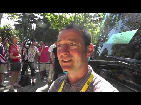 Ned Boulting of ITV4 Interview (of such) at The Tour de France 2013