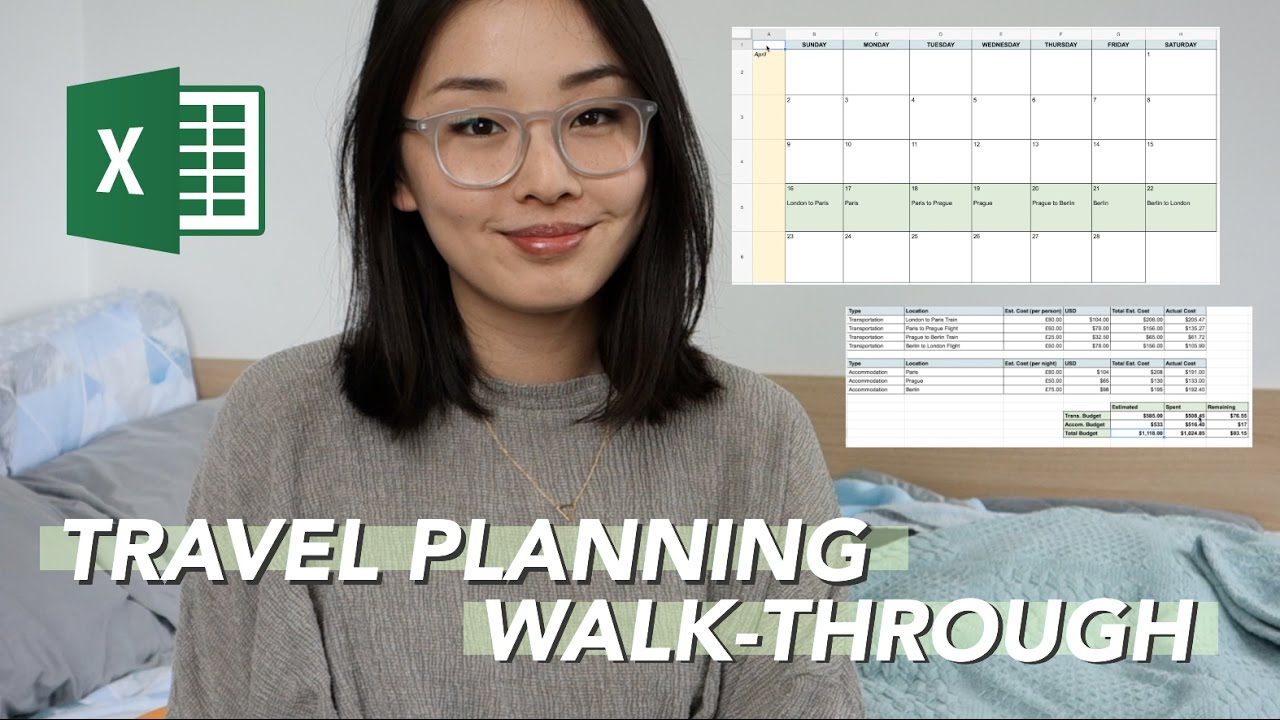 Planning and Organizing Your Travels pt. 2 | Excel Walk-through