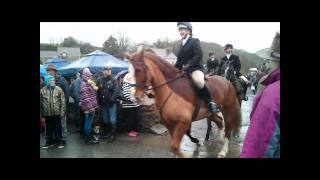 Boxing Day 2014 Fox Hunt Leaves Cresswell Quay, Pembrokeshire Thumbnail