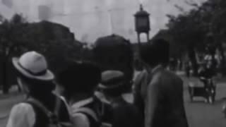 1937年(昭和12年)北海道札幌市街地 市電 バス 三越 北海道大学 広告 看板