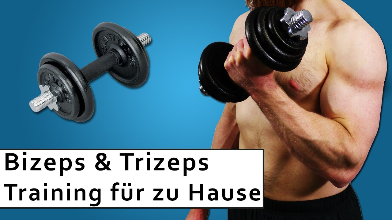 Bizeps und Trizeps Training Muskelaufbau zuhause