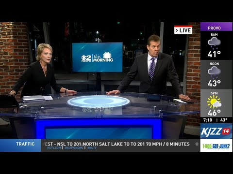 2News in the Morning during 5.7 magnitude earthquake